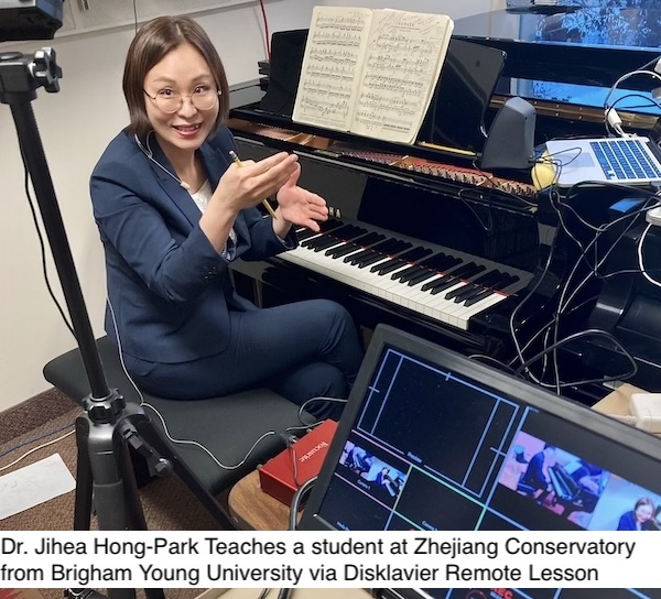 Brigham Young Universityand Zhejiang Conservatory of Music Connect for Remote Lesson Masterclass